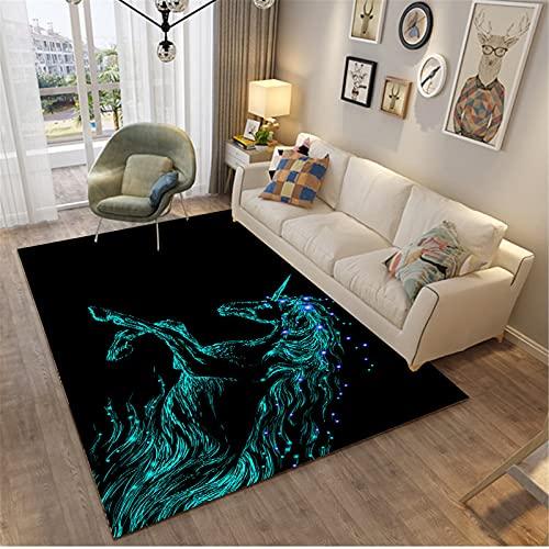MMHJS Mobiliario para El Hogar Alfombra Rectangular Grande Ambiente Lujoso Fresco Y Agradable para La Piel Adecuado para La Sala De Estar 120x160cm