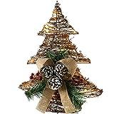 WeRChristmas Pre-Lit de ratán LED Árbol de Navidad Decorado con piñas y Bayas, Nieve...