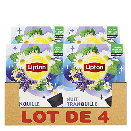 Lipton Infusion Nuit Tranquille, Tilleul, Verveine & Camomille, Capsules Compatibles Nescafé Dolce Gusto 48 Capsules (Lot de 4x12 Capsules)