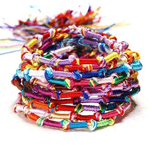 TYUXINSD Hermosa 10 unids Hecho a Mano Colorido cordón de Amistad cordón Hilo Pulsera Kit de Pulsera