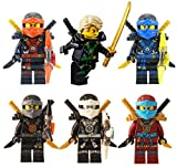 LEGO Ninjago: Ninja's set of 6 - Lloyd, Nya, Zane, Cole, Jay, Kai Deepstone Minifigures