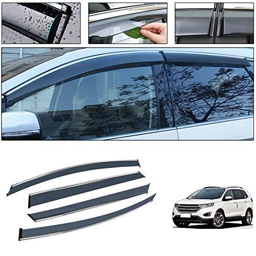 saitake Windabweiser Für Ford Edge 2015-2019 4PCS Autofenster Visier Sonne Regen Rauchabzug Schatten Klebeband Außenvisiere
