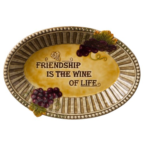 Grasslands Road in Vino Veritas Ceramic Au Gratin Dish, 10-Inch