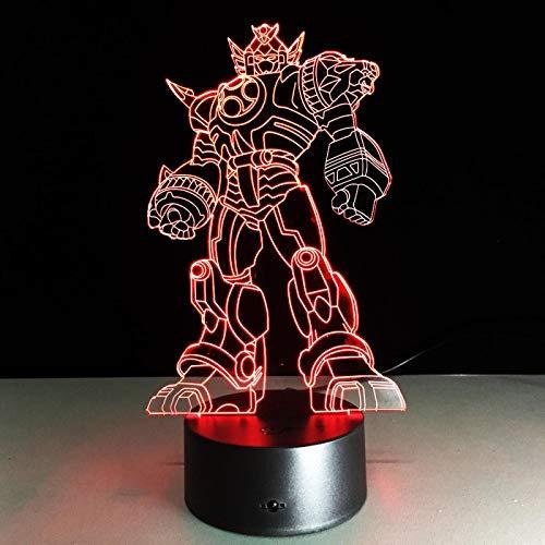 Luz de noche 3d Nueva lámpara 3D de transformación de Anime fresca, juguetes para niños, figuras de acción, Robot de película, luz de noche LED, 7 colores, regalos para niños