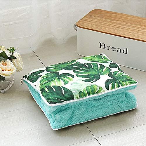 Cuscino 2 in 1 velluto corallo peluche coperta cuscino quadrato per divano letto, dimensioni: 40 cm x 40 cm, colore casuale consegna