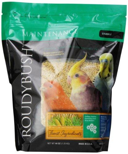 RoudyBush Daily Maintenance Bird Food, Crumbles, 44-Ounce