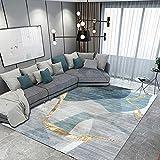 ZPSPZ alfombras Salon Modernas, Alfombra, Dormitorio, Gris,alfombras Salon Pelo Corto, Antideslizante, hipoalergénico, apartamento en casa, alfombra-180 cm × 250 cm_Gris A