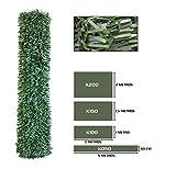 Seto Decor K100B Seto Artificial Decorativo de Hoja Normal de 1 x 3 Metros, Color Verde