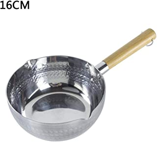 Bobody Aluminum Saucepan Nonstick with Wooden Handle Kitchen Cooking for Soup Stew Sauce Pasta