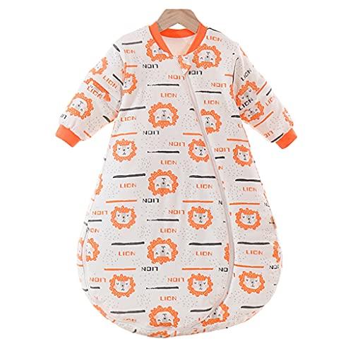 YQQMC Baby-Schlafsack und -Sack, Baby-tragbare Decke mit Füßen Winter, weiche Baumwolle Warmer Schlafsack Komfortabel (Color : Orange, Size : X-Large)