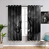 Weilan1999 Venom Cortinas opacas para sala de estar infantil dormitorio decoración 106 x 182 cm