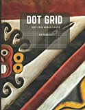 Notebook Dot Grid: Black Paper 8.5' x 11' Gel Pen Writing Journal of 110 Writing & Drawing Pages