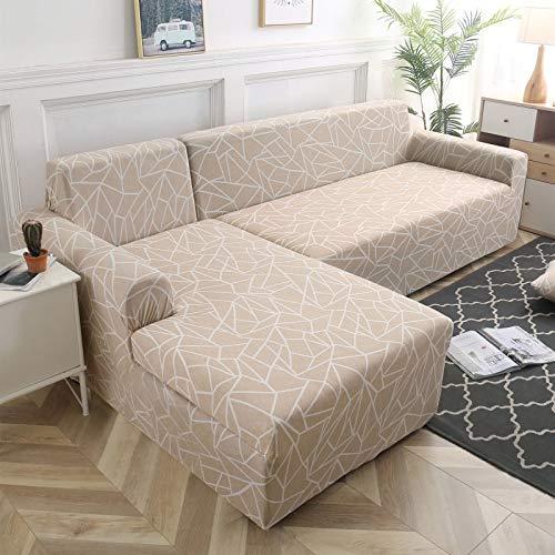 Fundas de sofá de Esquina en Forma de L para Sala de Estar, Fundas de sofá, sofá seccional elástico elástico, sofá Cubre A1, 2 plazas