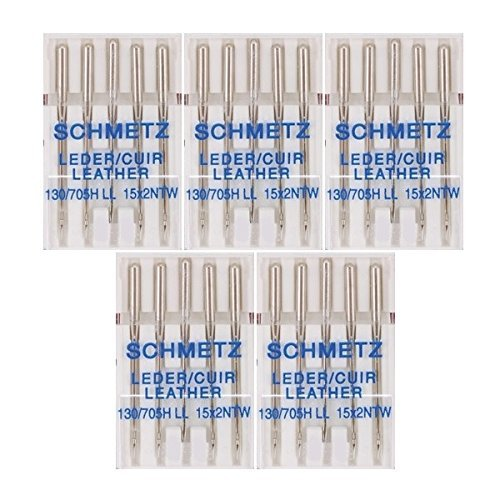 Learn More About 25 Schmetz Leather Sewing Machine Needles 130/705H LL 15x2NTW Size 90/14