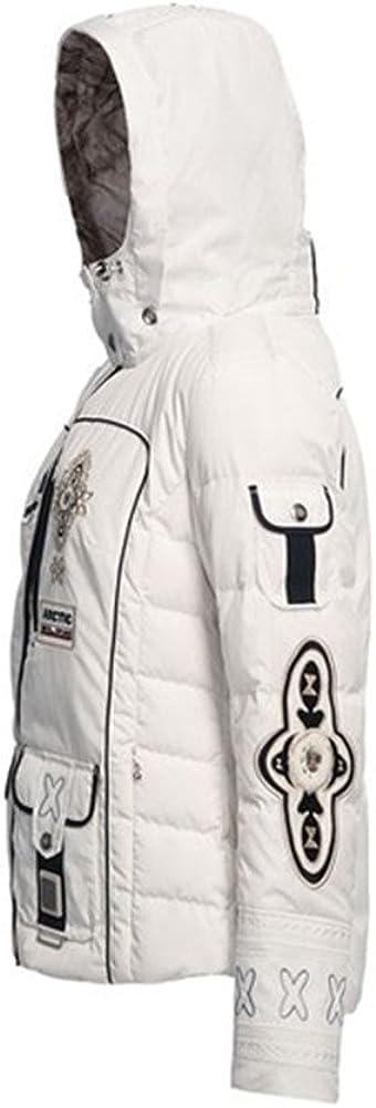 lasting charm B0GNER Hooded Waterproof Outdoor Winter Sports Parka Windproof Women Pira-D Down White Ski Jacke