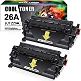 Cool Toner Kompatibel Tonerkartusche als Ersatz für HP 26A CF226A Laserjet Pro MFP M426FDW M426FDN M426DW M402DN M402D M402N M402dw Laserdrucker(Schwarz, 2er-Pack)