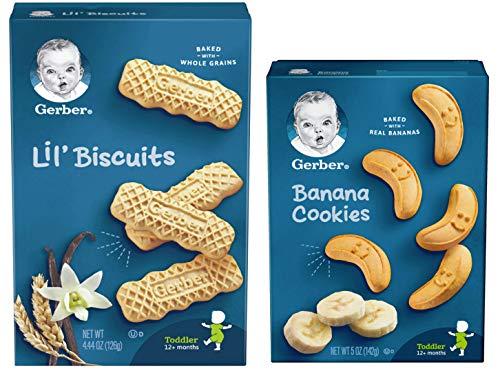Gerber Graduates Banana Cookies & Vanilla Wheat Lil Biscuits Combo Pack