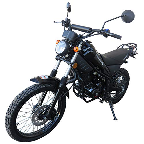 250cc Dirt Bike Pit Bike Adult Dirtbike 250cc Motorcycle Bike Street Bike with Gloves, Google and Handgrip (Black)
