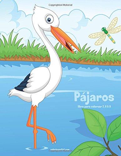 Loros y otros Pájaros libro para colorear 7, 8 & 9