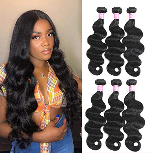 Body Wave Brazilian Hair Weave Bundles 100% Virgin Human Hair Bundles (12 14 16) Hair Extensions
