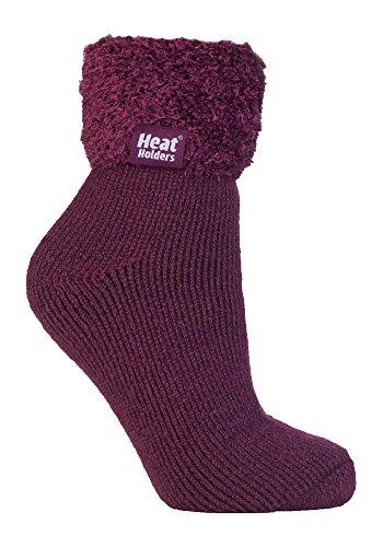 HEAT HOLDERS - 1 coppie calzini antiscivolo donna invernali letto adulti termico soffici in 8 colori 37-42 eur (HHL03)
