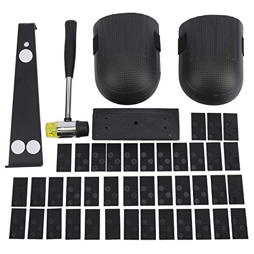 Artilife Laminate Wood Flooring Installation Kit with Ruber Hammer, 40Pcs Spacers, Heavy Duty Pull Bar, Tapping Block and 2 Knee Pads Tools Kit