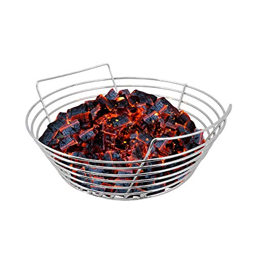 Kick Ash Basket Stainless Steel Charcoal Ash Basket for Vision, Pit Boss, Grill Dome XL, Kong, and Louisiana Kamado Grills