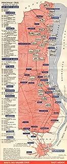 BORDEAUX WINE TOURING MAP. Route des Grands Crus - Haut-Médoc. LARMAT, c1947