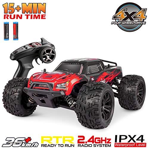 Hosim Fernsteuertes Auto 1:16 Maßstab, RC Offroad Car 4WD, Elektronische Monstertruck, Outdoor Spielzeug für Kinder & Erwachsen (Rot) Modellnummer: G174*