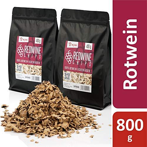 BBQ-Toro Redwine Smoker Chips (800 g) Rotwein Räucherchips | rauchintensive Smokerchips aus Eichenfässern | Grillchips für Gasgrill, Smoker, BBQ