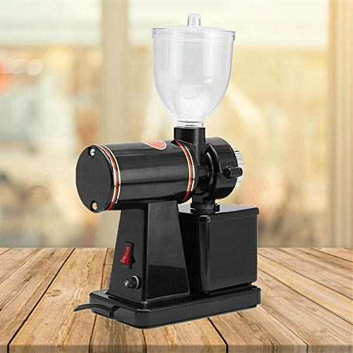 Commercial Coffee Grinder, 110V 100W Electric Automatic Burr Mill Espresso Bean Home Grind, Funnel Capacity: 250g, Crushing Capacity: 150g/min