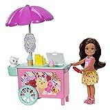 Barbie FDB32 Club Chelsea Ice Cream Cart Doll and Playset