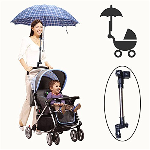 Zhuhaixmy Schirmständer Griff New Useful Baby Pram Bicycle Stroller Chair Umbrella Bar Holder Mount Stand Handle Stroller Accessories High Quality (Style:stretchable)
