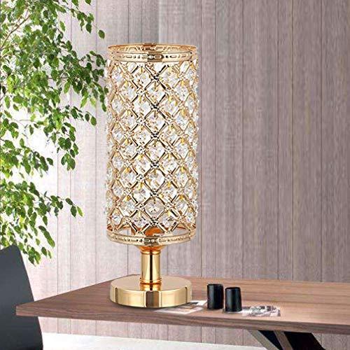 Moderne Kristall-Tischlampe, Kreative Gold-Lampenschirm-Kopfschreibtischlampe, Dekorative Runde Nachtlampe Für Schlafzimmer Wohnzimmer Dresser