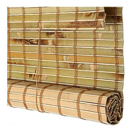 LH-RUG Persiana De Bambú Romana Shade Enrollable, Cortina De Privacidad De Ventana, Impermeable para Exterior Patio Puerta, Cortina Personalizada (Color : Green, Size : 100x220cm)