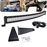 Dasen Compatible with Polaris Ranger 570/900/1000 Full Size 52' 300W Curved LED Light Bar...