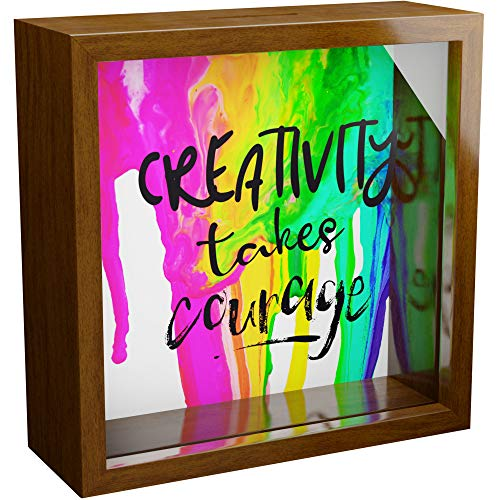Artist Gifts | Unique 6x6x2 Wooden Shadow Box Ideal for Painters | Gift for Teenage Men and Women Artists | Gifts for Artists Who Draw | Artistic Picture Frame for Drawing or Painting Lover
