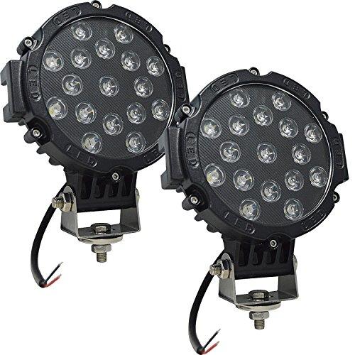 Auxtings 17,8 cm Zoll 2 Pcs 51 W Flood LED Light Bar Offroad fahren Lichter Licht für Auto LKW Pickup SUV UTV (schwarz)