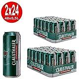 2 x Clausthaler Original Beer SIN ALCOHOL 24x 0.5L = 48 latas ONE WAY