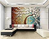 Ponana Fondos De Pantalla En 3D Dormitorio Sala De Estar Cuadros Decorativos Tv Fondo De Pared Árbol 3D Papel Tapiz Decorativo Para Paredes 3 D-200X140Cm