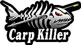 ProSticker 1517 (One) 3.5' X 7' Fishing Art Series Carp Killer Skeleton Arrow Decals Sticker