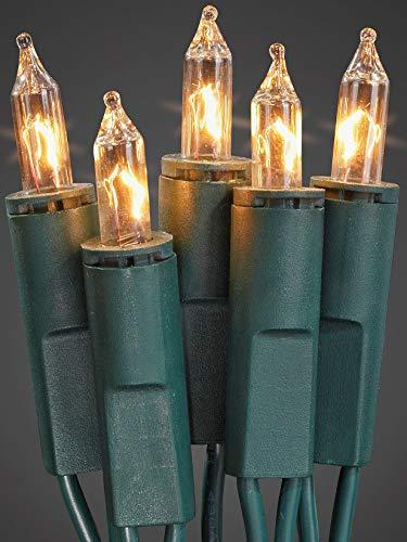 Hellum 832013 Lichterkette 20 Pisellokerzen klar / 5,85 m/innen/Zuleitung 2x1,5 m grün