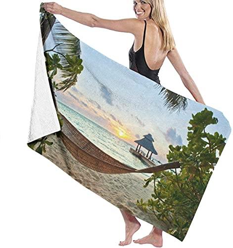 Toallas de baño Hamaca en la Playa de Arena Viajes en la Playa Manta de Toalla Grande súper Absorbente 31 '* 51' para niños pequeños Que corren bañándose