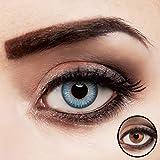 aricona Kontaktlinsen farbig blau ohne Stärke natürliche Jahreslinsen 2 Stück
