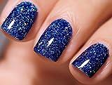 FANZEST Sparkle Glitter Gel Nail Polish Led UV Gel Fall Winter Color (Diamond Navy Blue)