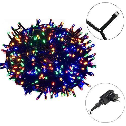 AUFUN LED Lichterkette Außen Bunt Ostern Außenlichterkette Weihnachtsbeleuchtung Wasserdicht IP44 mit 8 Leuchtmodi für Hochzeit, Party, Garten (100m,1000LEDs,Bunt)
