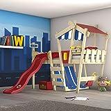 WICKEY Kinderbett 'CrAzY Hutty' mit Rutsche - Hochbett in verschiedenen Farbkombinationen - 90x200...