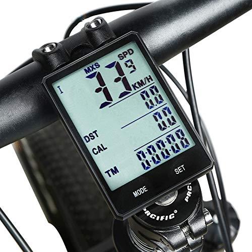 INBIKE Fahrradcomputer Multifunktions Wasserdicht Stoppuhr Straßenradfahren Radsport/Fahhrad Radsport/IPX-6 (Weiß)