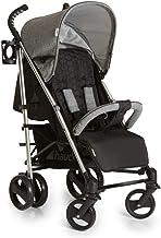 Hauck Vegas Silla de paseo ligera hasta 25 kg con respaldo reclinable desde nacimiento, plegado compacto y plano, chasis de aluminio, portavasos, cesta grande para guardar utensilios, gris
