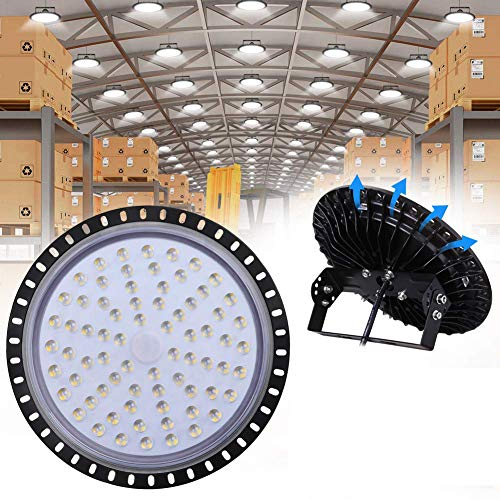 300W LED UFO Industrielampe, WZTO 30000LM LED Hallenstrahler, SMD 2835 LED High Bay Licht mit Kaltweiß 6000-6500K, Abstrahlwinkel 120° für Deckenleuchte, Hallenbeleuchtung, Werkstattbeleuchtung